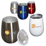 Buy 10 oz. Stemless Vacuum Wine Tumbler w/ Lid