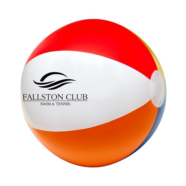 "Main Product Image for 12"" Six Color Beach Ball"