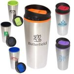Buy Travel Mug Custom Imprinted Color Bloc Top Tumbler 15 oz