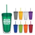 Buy 16 Oz. Econo Double Wall Tumbler With Lid And Straw