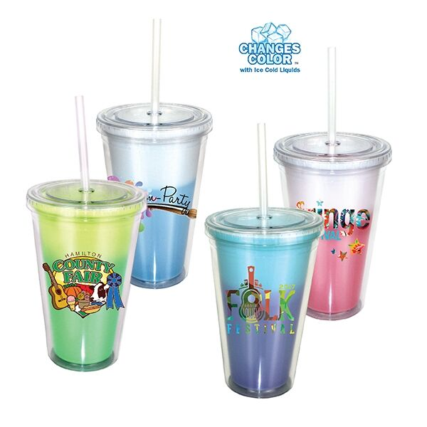 Main Product Image for 16 oz. Mood Victory Acrylic Tumbler with Straw Lid, Full Col