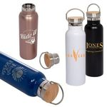 Buy 20 oz. Vacuum Bottle With Bamboo Lid