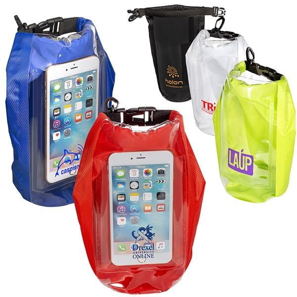 Main Product Image for 2L Water-Resistant Dry Bag with Mobile Pocket