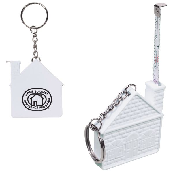 Main Product Image for Custom Imprinted Key Tag with House Shaped Tape Measure 3 ft