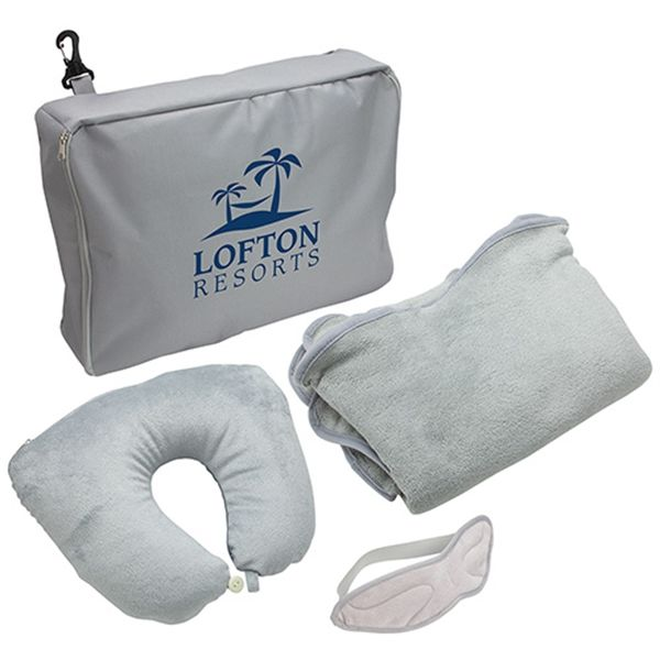Main Product Image for 3-Piece Travel Pillow & Blanket Set
