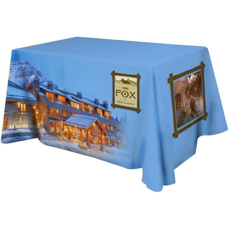 Main Product Image for Trade Show Table Covers All Over Dye Sub Flat Poly 4-  sc 1 st  ImprintLogo & Trade Show Table Covers 4 Sided Flat Poly