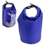 5-Liter Waterproof Gear Bag With Touch-Thru Pouch - Bright Blue