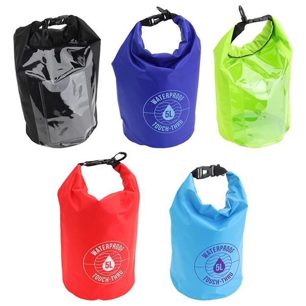 Main Product Image for 5-Liter Waterproof Gear Bag With Touch-Thru Pouch
