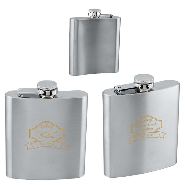 Main Product Image for Stainless Steel Flask 6 oz