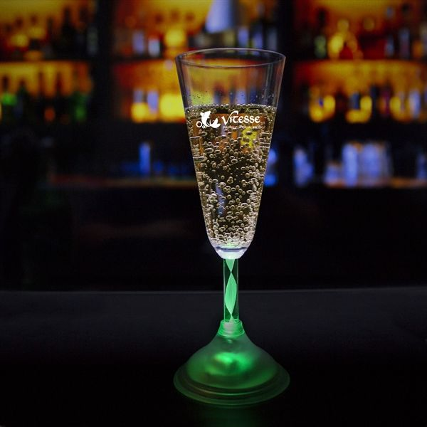 Main Product Image for 7 1/2 oz. Champagne Glass with Multi-Color LED Lights