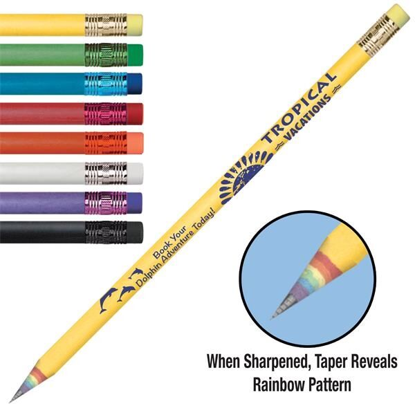 Main Product Image for Arcus Recycled Newspaper Rainbow Tapered Pencil ASSORTED COLORS