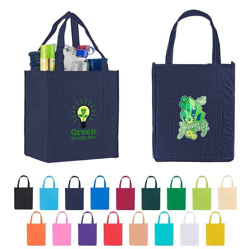 Main Product Image for Custom Imprinted Grocery Tote Bags Nonwoven