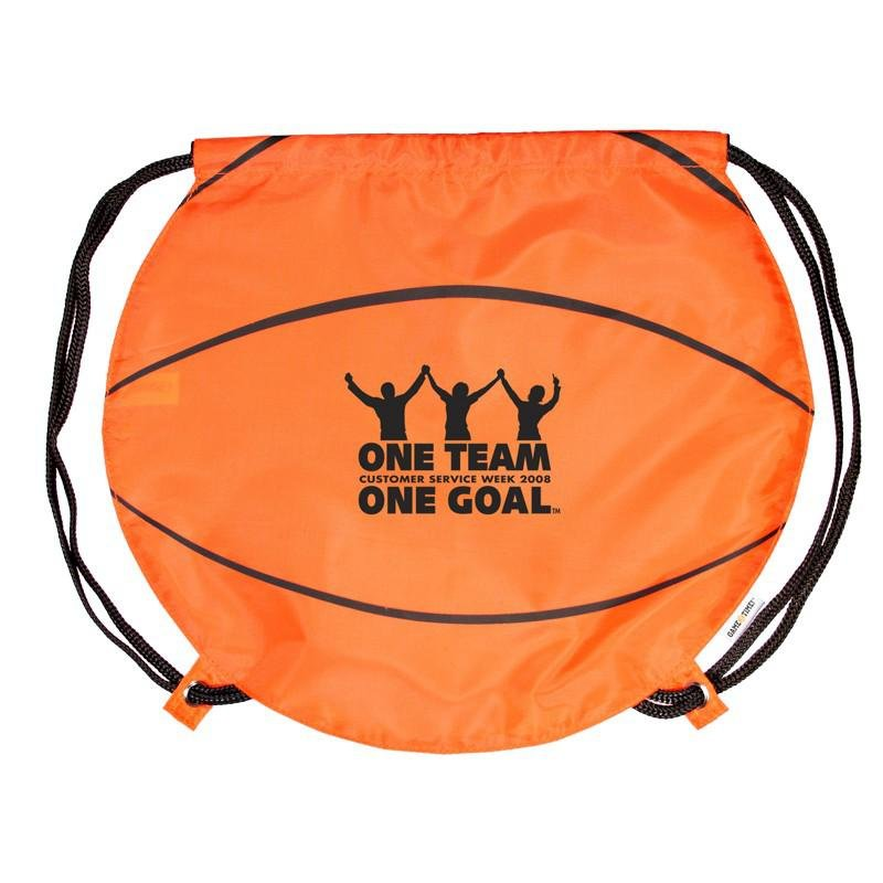 Main Product Image for Custom Imprinted Drawstring Backpack Basketball