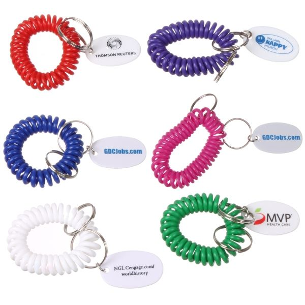 Main Product Image for Custom Imprinted Key Chain on Bracelet Coil