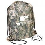 Buy Custom Imprinted Drawstring Backpack Camo Design