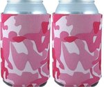 Can Cooler Collapsible - Pink Camo