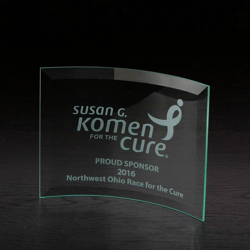 Main Product Image for Trophy - Custom Engraved Trophy - Jade Glass Award