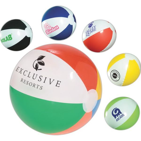 Main Product Image for Custom Imprinted Classic Beach Ball 10 1/2in