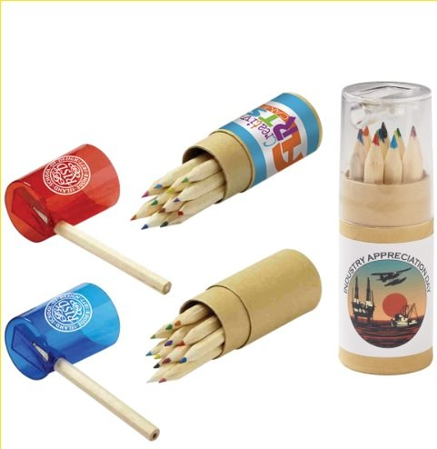 Main Product Image for Colored Pencils in Tube with Sharpener