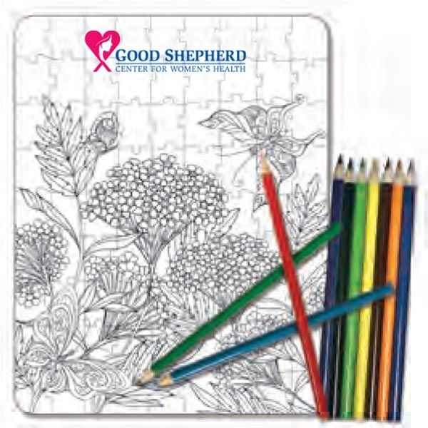 Main Product Image for Coloring Puzzle Set - Nature Coloring (81 Pieces)