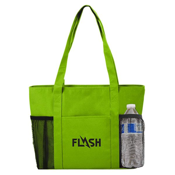 Main Product Image for Custom Imprinted Tote Bag Cooler with Mesh Pockets