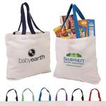Buy Custom Imprinted Tote Bag Canvas with Color Accent Handles