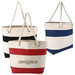 Cotton Resort Tote with Rope Handle -