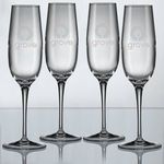 Buy Champagne Glass Custom Etched Crescendo - Set of 4  8 oz