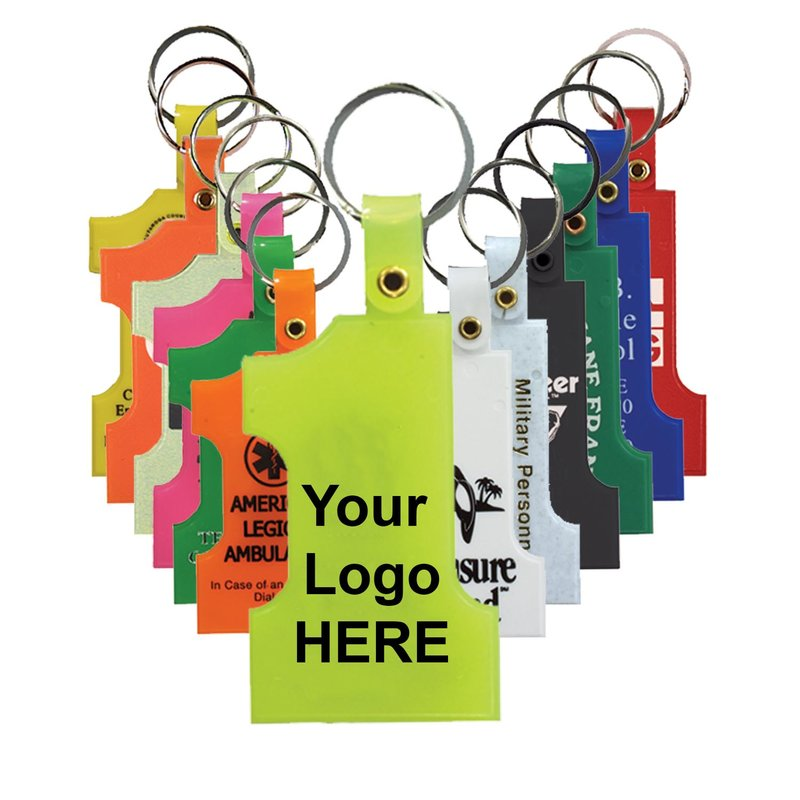 Main Product Image for Custom Imprinted Key Tag Number One