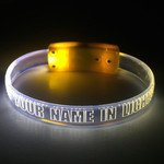 Custom Printed LED BOLT Light Wristband -