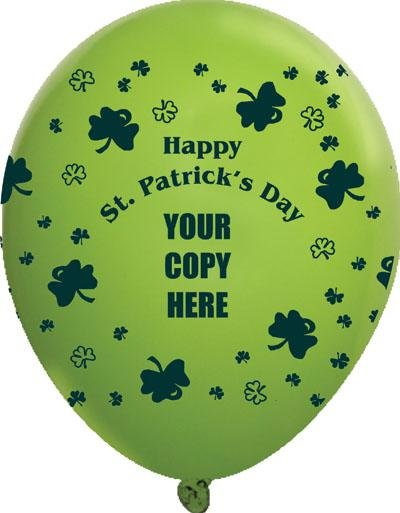 Main Product Image for Custom St. Patricks Day Balloons USA MADE