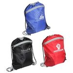 Buy Custom Imprinted Drawstring Backpack Cyclone Mesh Curve