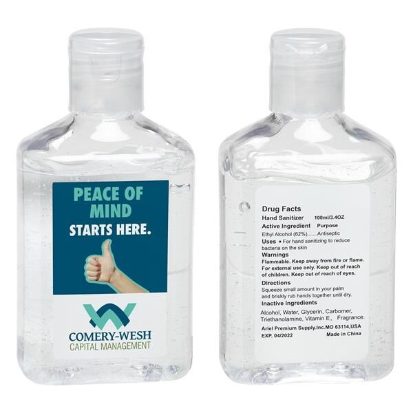 Main Product Image for Hand Sanitizer with Vitamin E  3.4 oz