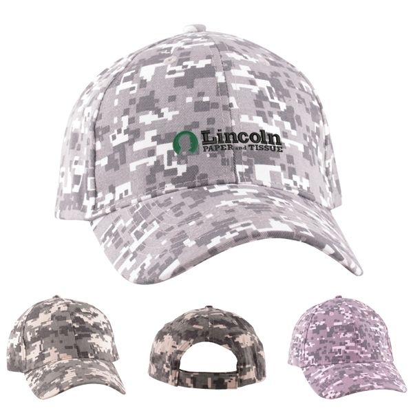 Main Product Image for Digital Camo Structured Baseball Cap (6 Panel)
