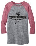 Buy Custom T Shirt Design District - Youths Microburn 3/4-Sleeve.