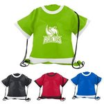 Buy Custom Imprinted Drawstring Bag T shirt shaped