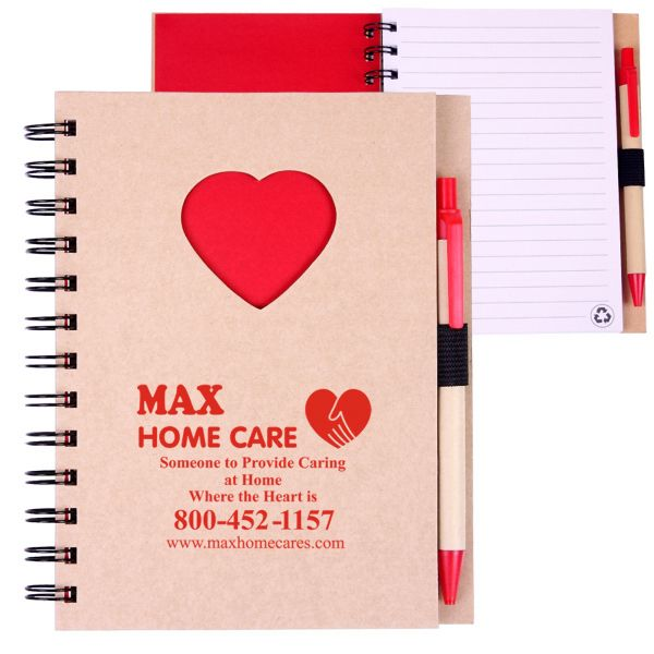 Main Product Image for EcoShapes (TM) Recycled Die Cut Notebook: Heart