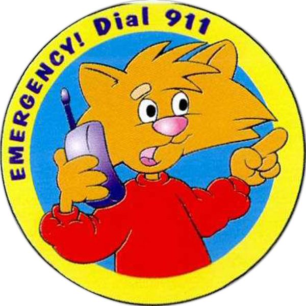 Main Product Image for Emergency Dial 911 Sticker Rolls