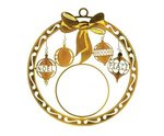 Express Bow Holiday Ornament - Bright Gold