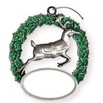 Express Reindeer Holiday Ornament - Silver