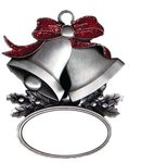 Express Silver Bells Holiday Ornament - Silver