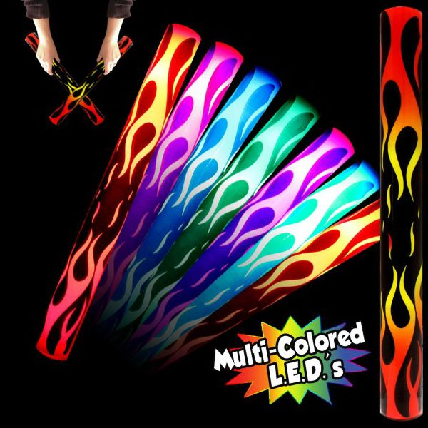 Main Product Image for Flame LED Cheering Light up Glow Lumiton Baton Wand