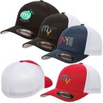 Flexfit® 6 Panel Fitted Trucker Cap -
