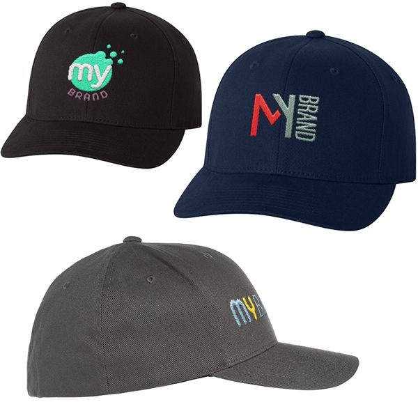 Main Product Image for Flexfit (R) Adult Brushed Twill Fitted Cap
