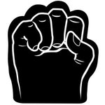Foam Fist Hand - Black