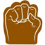 Foam Fist Hand - Brown