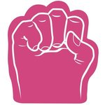 Foam Fist Hand - Hot Pink