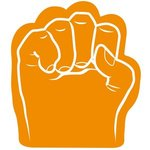 Foam Fist Hand - Orange