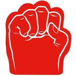 Foam Fist Hand - Red