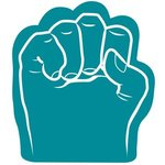 Foam Fist Hand - Teal